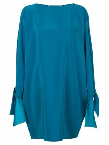 Gianluca Capannolo tied sleeves dress - Blue