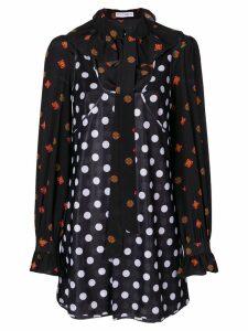 JW Anderson polka dot and floral print dress - Black