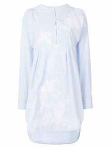 Ermanno Scervino round-neck striped shirt dress - White