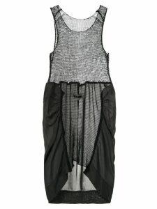 Uma Wang panelled knit dress - Black