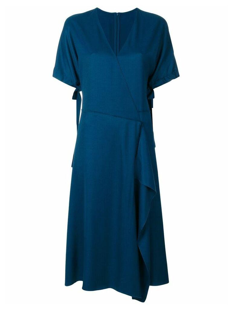 Cédric Charlier classic wrap dress - Blue