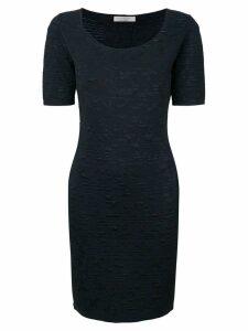 D.Exterior textured knit dress - Blue
