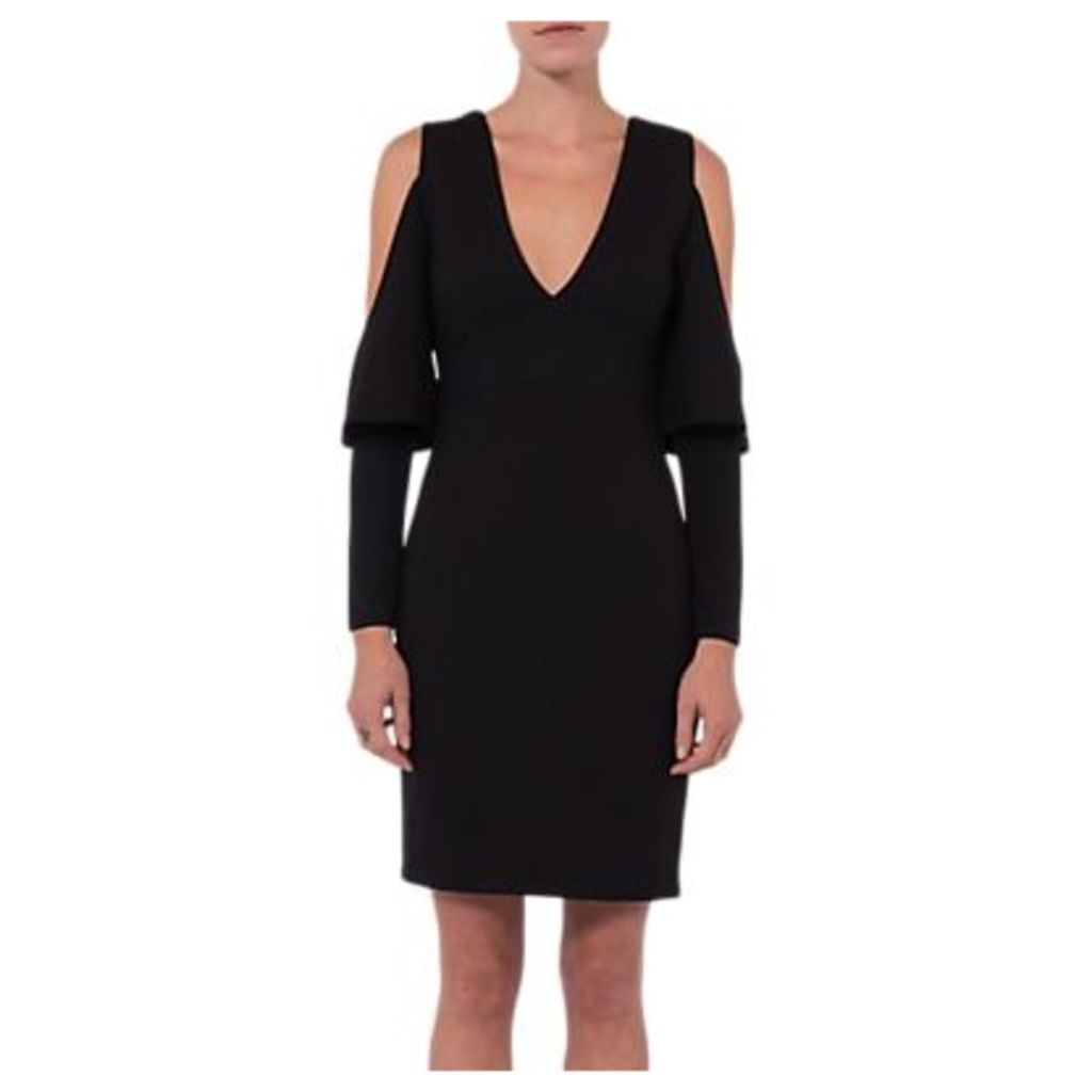 French Connection Beau Cold Shoulder Dress, Black