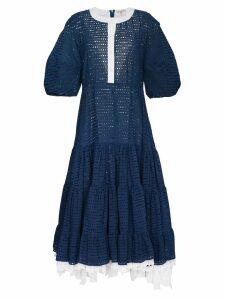 Natasha Zinko Oversize Sleeve Tiered Dress - Blue