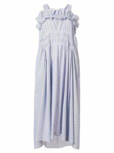 Carven ruffle neck dress - Blue