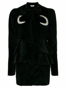 Attico moon patch mini dress - Black