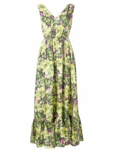 MSGM floral print long-length dress - Green