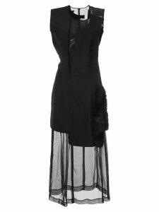 Comme Des Garçons Pre-Owned faux fur detail dissected dress - Black