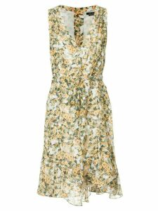 Isabel Marant side tie V-neck dress - Yellow