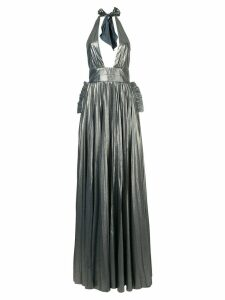 Maria Lucia Hohan halterneck pleated design gown - Blue