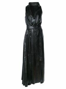 Ann Demeulemeester V-neck belted dress - Black
