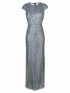 Galvan Estrella cap sleeve dress - Metallic