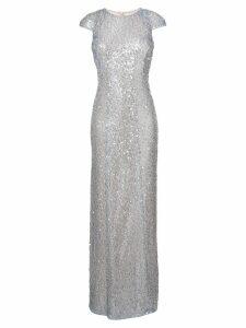 Galvan Estrella cap sleeve dress - Metallic