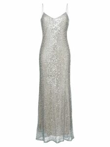 Galvan Estrella spaghetti strap dress - Metallic