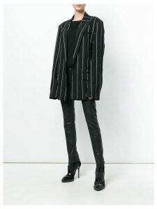Haider Ackermann striped oversized blazer - Black