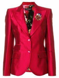 Dolce & Gabbana Giacca crest detail blazer - Red