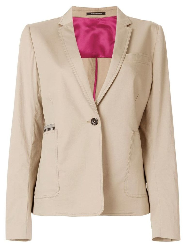 PS Paul Smith 'sabbia' contrasted jacket - Neutrals