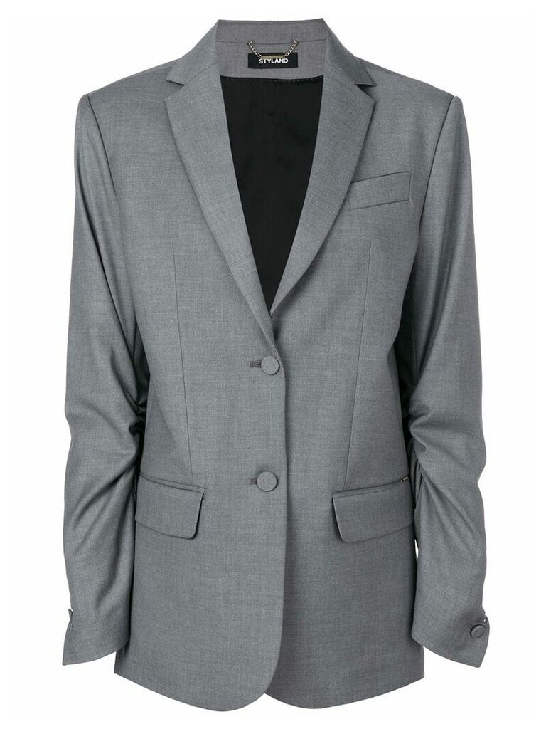 Styland double button blazer - Grey