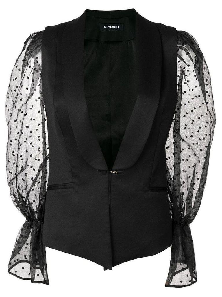 Styland sleeveless blazer - Black