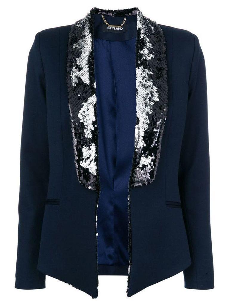 Styland sequin embellished blazer - Blue