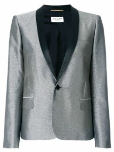 Saint Laurent metallic fitted blazer - Grey
