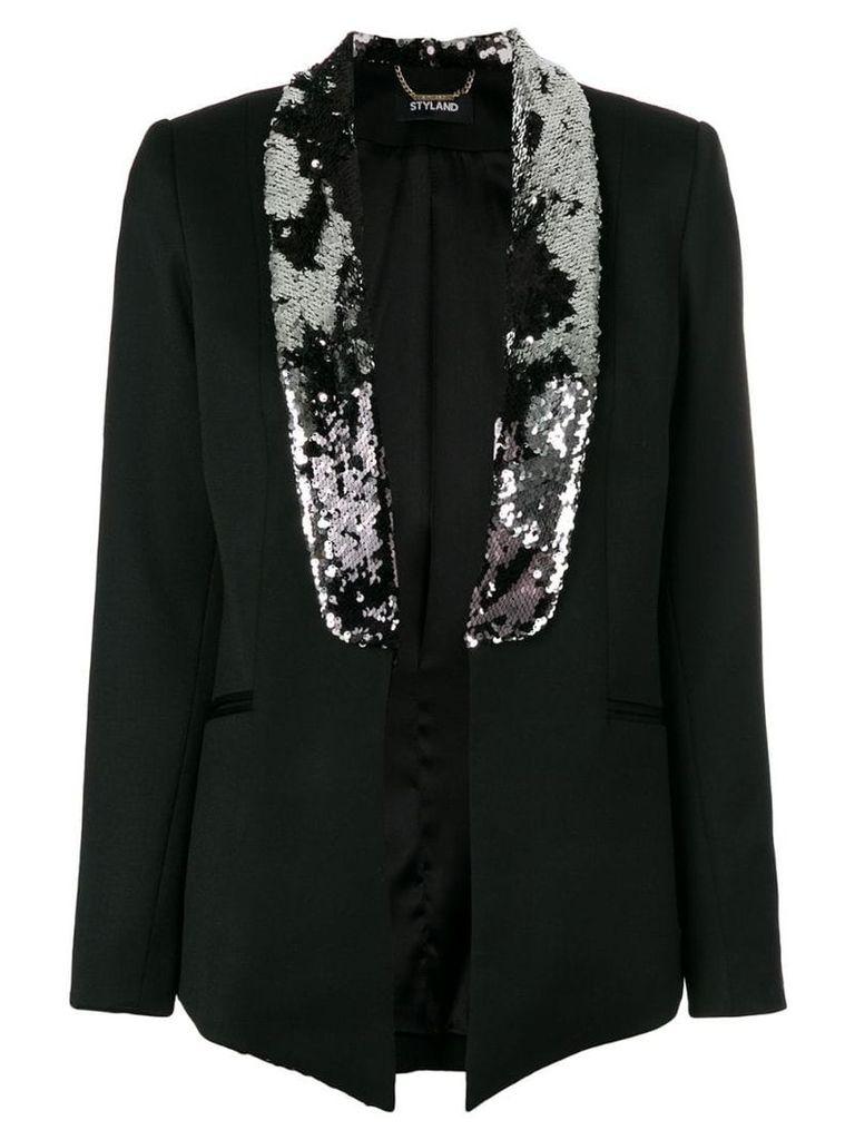 Styland sequin embellished blazer - Black