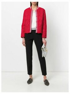Ermanno Ermanno cropped lace jacket - Red