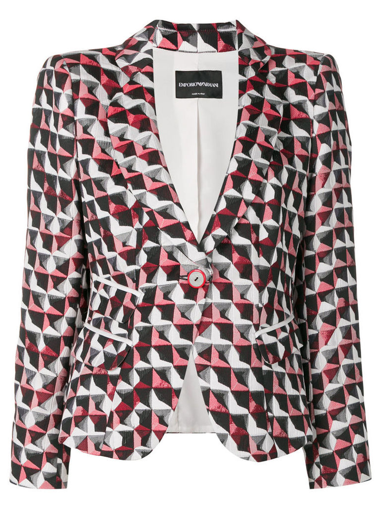 Emporio Armani printed fitted jacket - Red