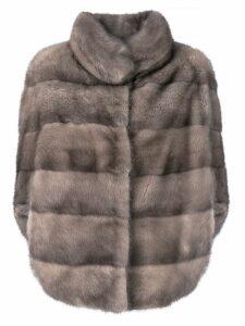 Liska Romea slit sleeves fur jacket - Grey