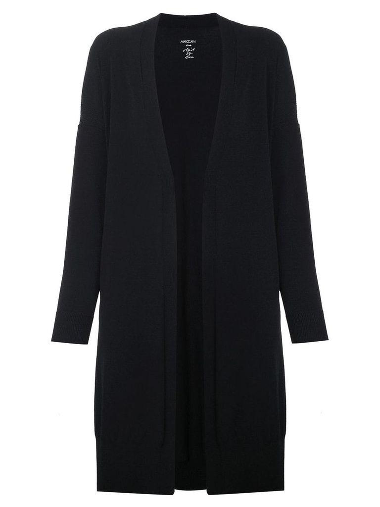 Marc Cain long crepe open front jacket - Black