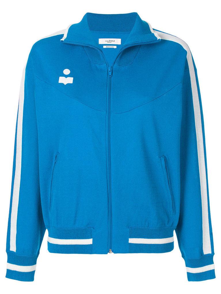 Isabel Marant Étoile contrast logo bomber jacket - Blue