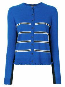 Cashmere In Love Capucine cropped striped cardigan - Blue
