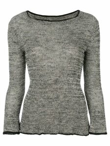 Isabel Marant Étoile scalloped fitted jumper - Grey