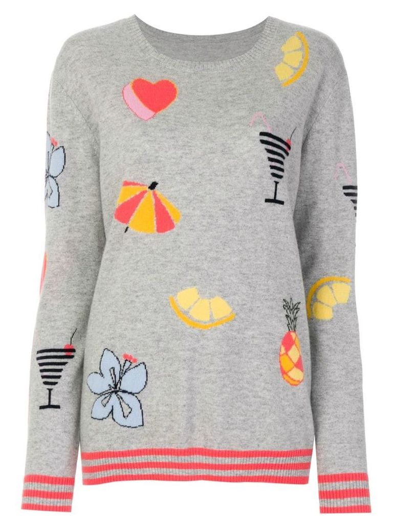 Chinti & Parker Summer intarsia jumper - Grey