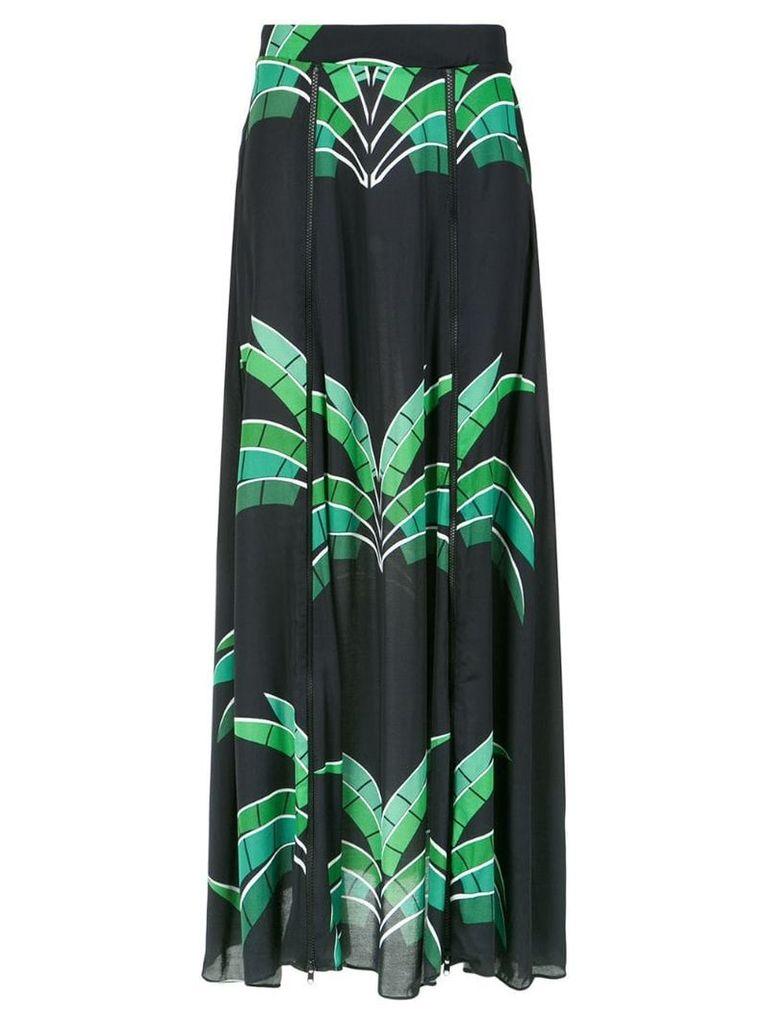 Amir Slama tropical print maxi skirt - Black
