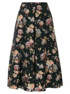 Rochas floral print A-line skirt - Black