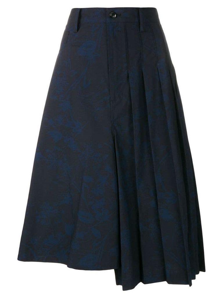 Y's graffiti print skirt - Blue