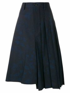 Y's graffiti print skirt - Blue