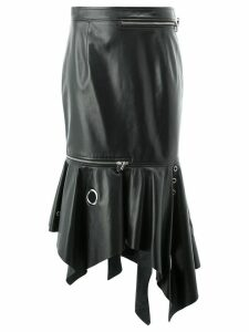 Monse asymmetric zipped skirt - Black