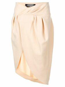 Jacquemus asymmetric wrap skirt - Neutrals