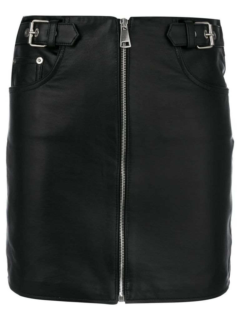 Manokhi zipped up fitted skirt - Black