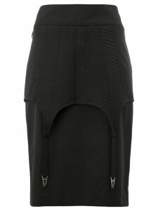 Vera Wang fitted midi skirt - Black