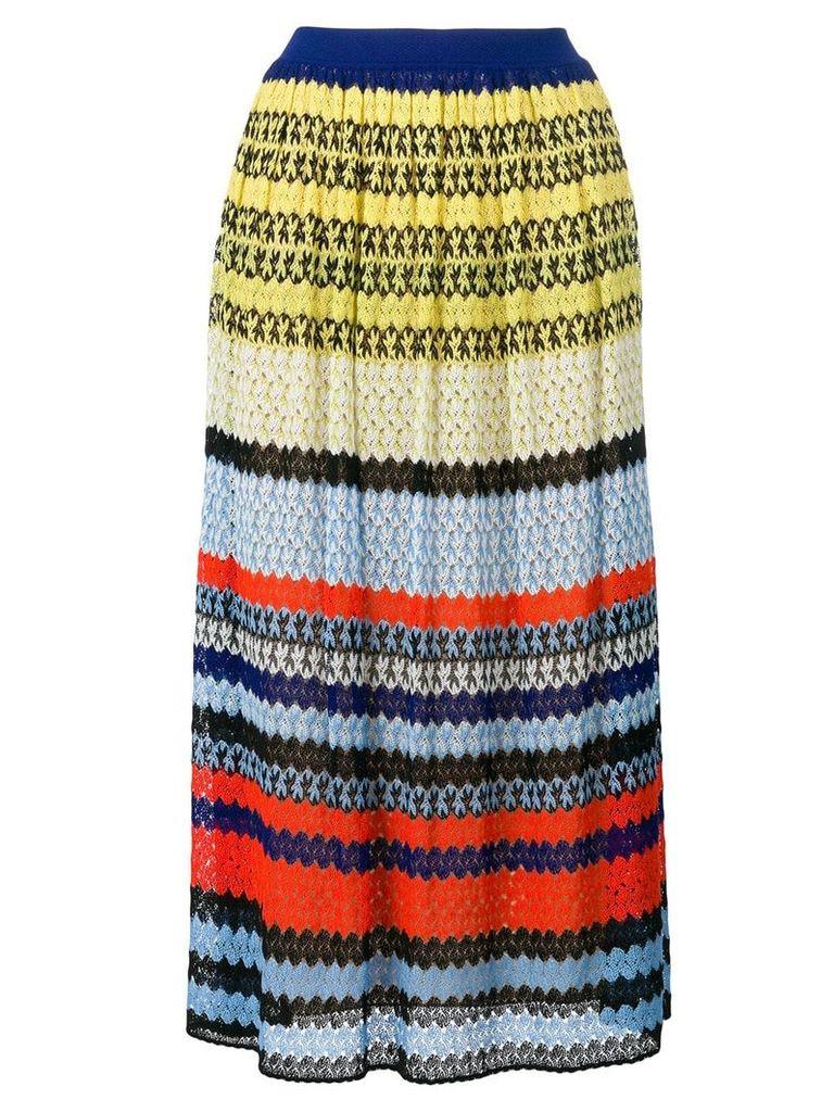 Missoni striped crochet-knit skirt - Multicolour
