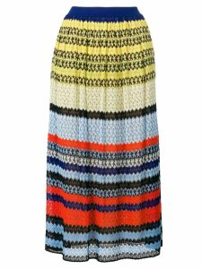 Missoni striped crochet-knit skirt - Multicolour