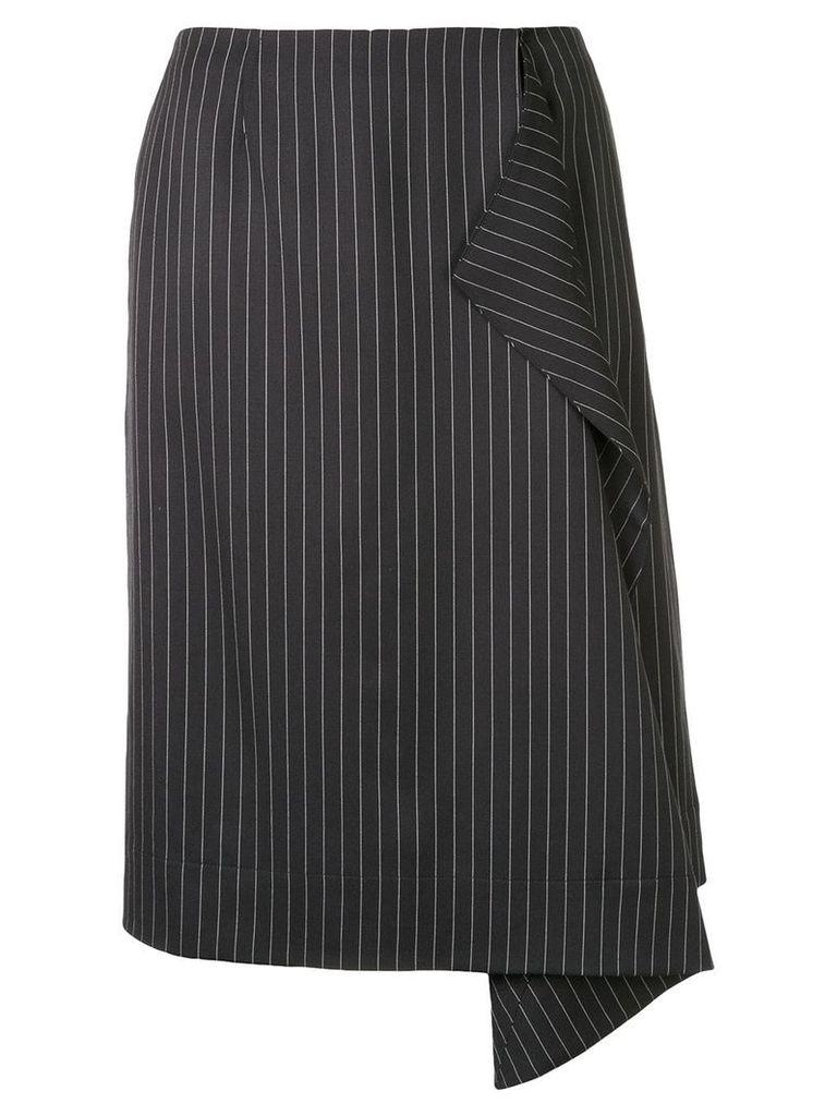 Stella McCartney striped midi skirt - Black