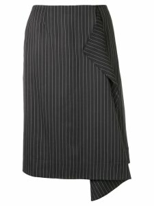 Stella McCartney striped midi skirt - Black