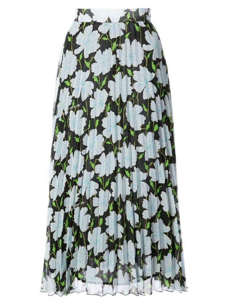 Off-White floral print skirt - Black