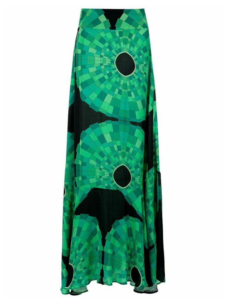 Amir Slama printed long skirt - Verde