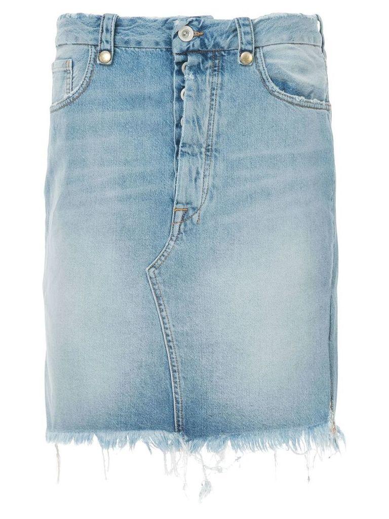 Unravel Project frayed denim skirt - Blue