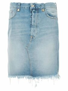 Unravel Project frayed denim skirt - Blue
